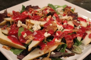 Pear And Roquefort Salad With Cranberry-Dijon Vinaigrette