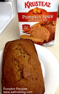 Krusteaz Pumpkin Spice Quick Bread
