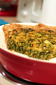 Pumpkin Spinach Quiche by Cooking Whims