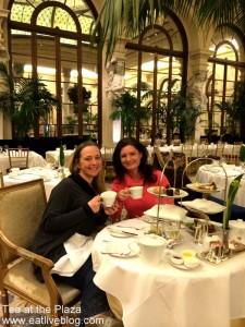 Afternoon tea at the Plaza Hotel in New York City