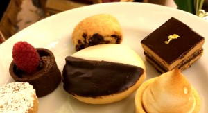 Desserts at Afternoon tea at the Plaza Hotel in New York City