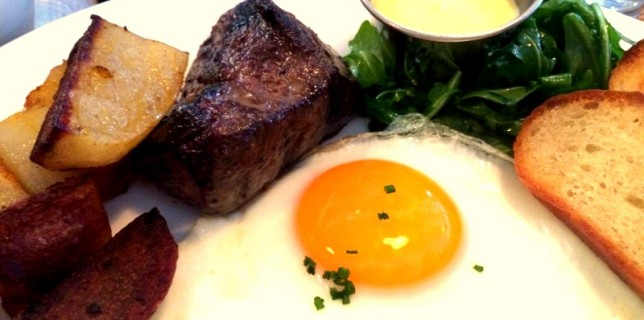 Wagyu steak and eggs from Puritan & Co in Inman Square, Cambridge