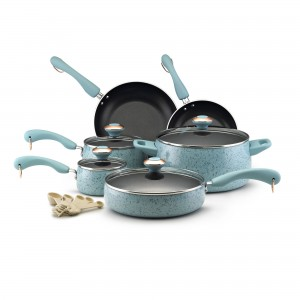 Blue Wayfair pots and pans