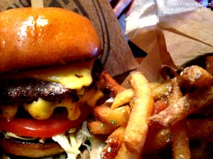 Del Friscos Burlington Triple Treat burger and fries