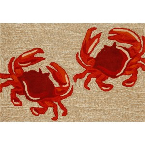 Liora Manne Frontporch Crab Rug as found on Wayfair.com