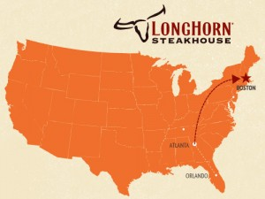 Longhorn Steakhouse Boston Map