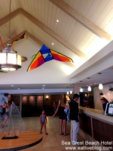 The lobby of the sea crest beach hotel
