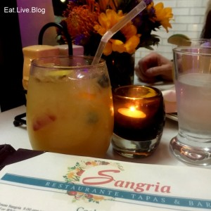 white sangria from Sangria restaurant in Newton