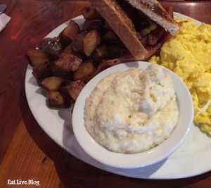 Lorettas Blue Grass Brunch Breakfast with Grits