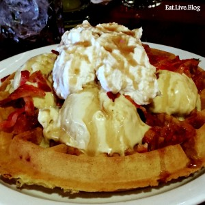Lorettas Blue Grass Brunch Maple Bacon Waffle