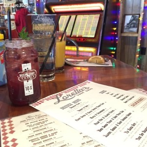 Lorettas Blue Grass Brunch Moonshine Menu JukeBox