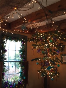 Holiday decorations at the 1785 Inn