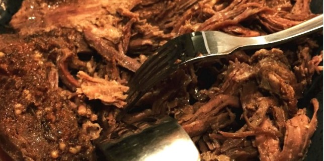 Oven braised pulled beef