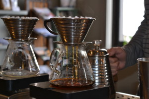Pour over coffee at Bard in Portland