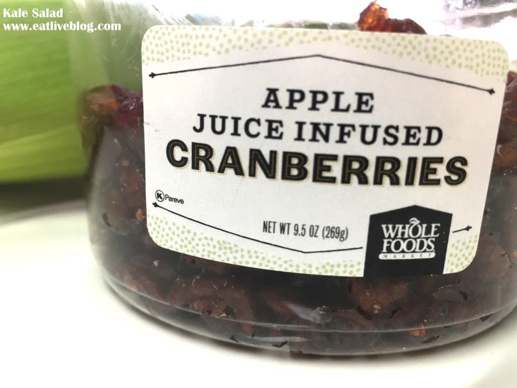 Whole Foods Apple Juice Infused Cranberries
