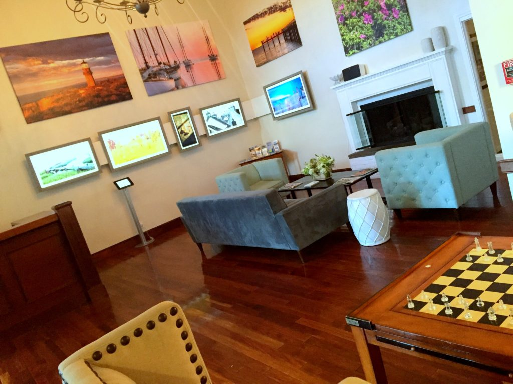The art gallery in the Kelley House lobby