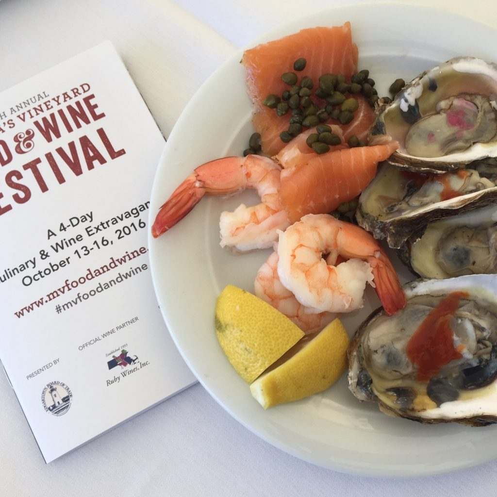 Bluepoint oysters at the marthas vineyard food and wine festival