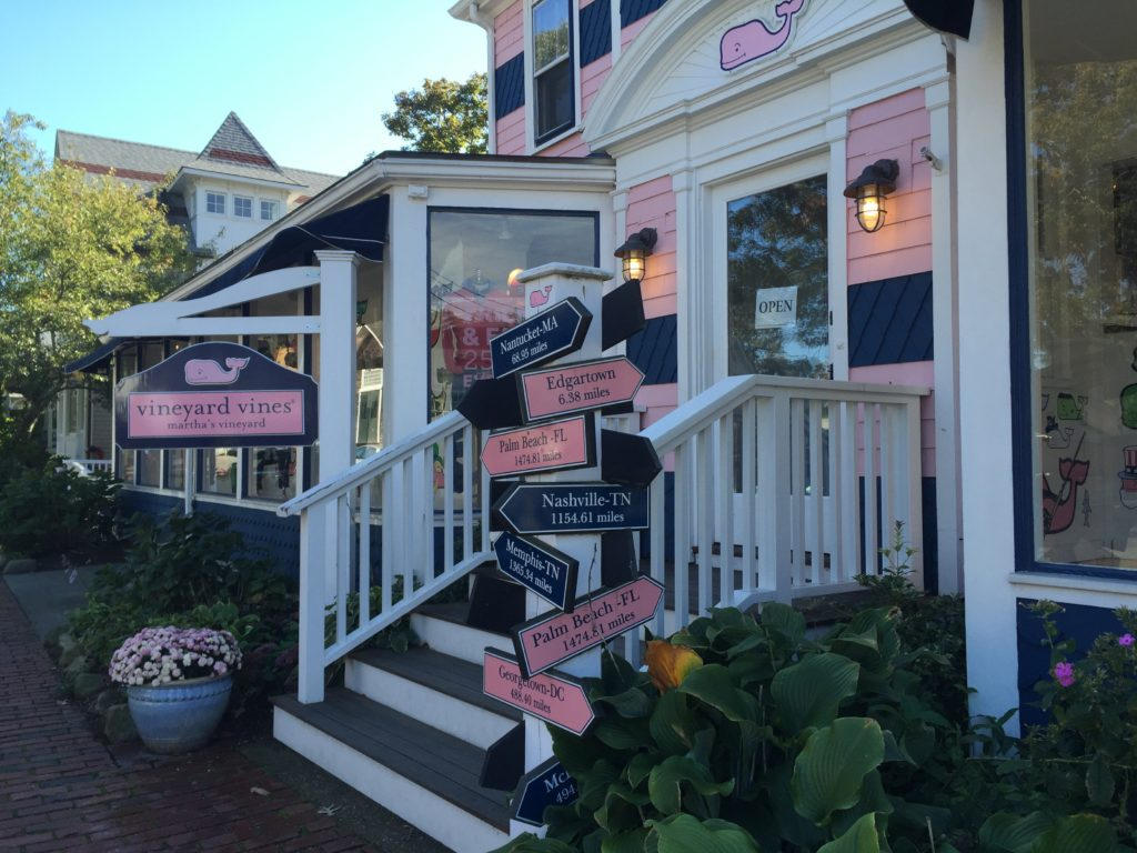 Vineyard Vines store in Oak Bluffs on Martha's Vineyard