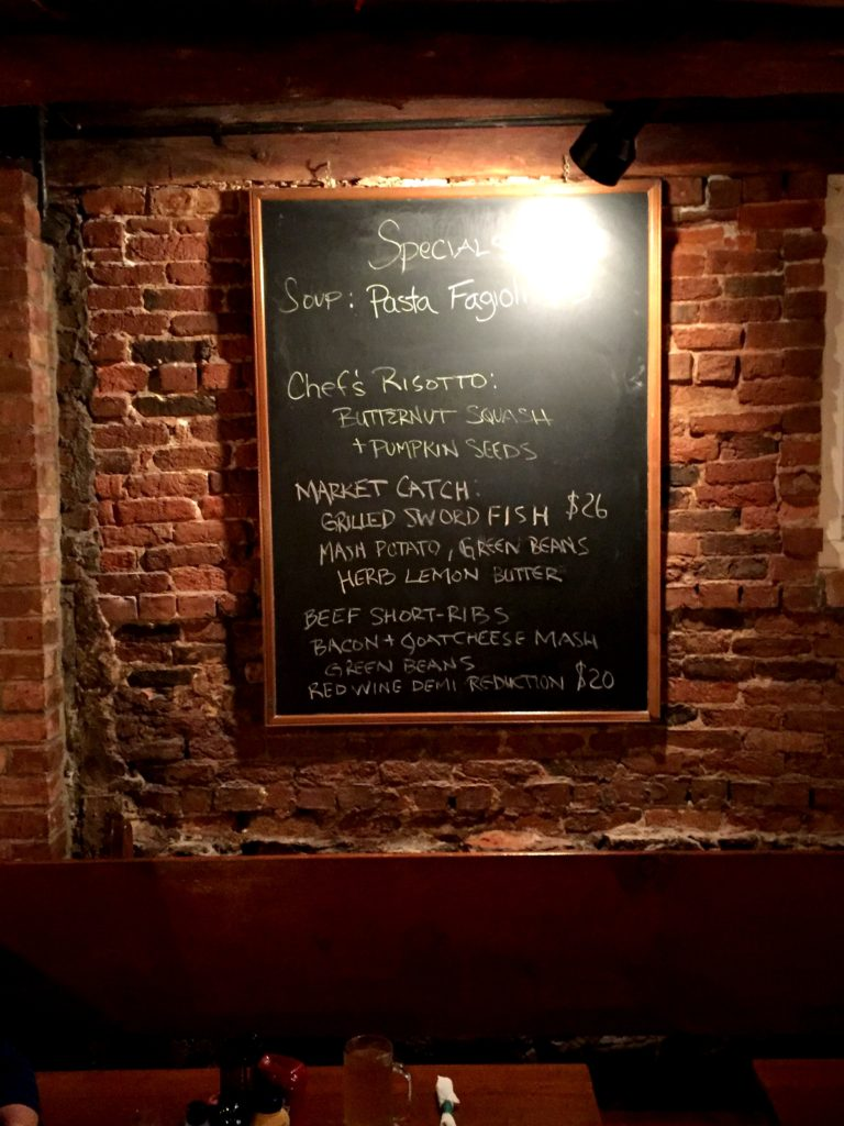 The nightly specials at newes from america pub in edgartown