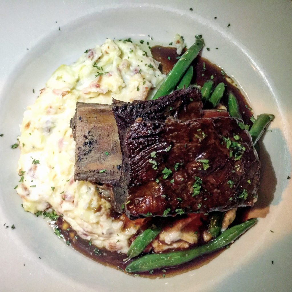 nightly special short rib at newes from america pub in edgartown