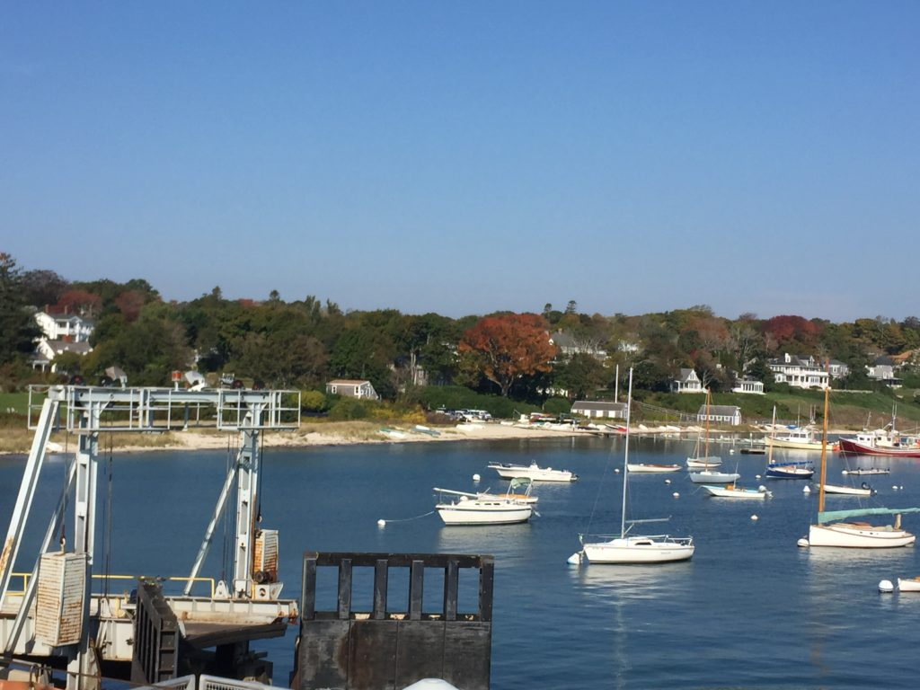 Fall on Martha's Vineyard from the ferry