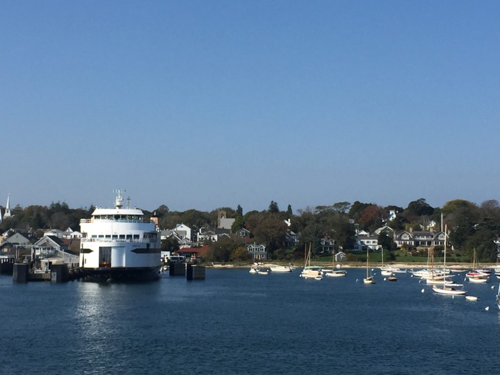 The view of Martha's Vineyard from the ferry